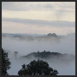 Mist on river Burnlaw